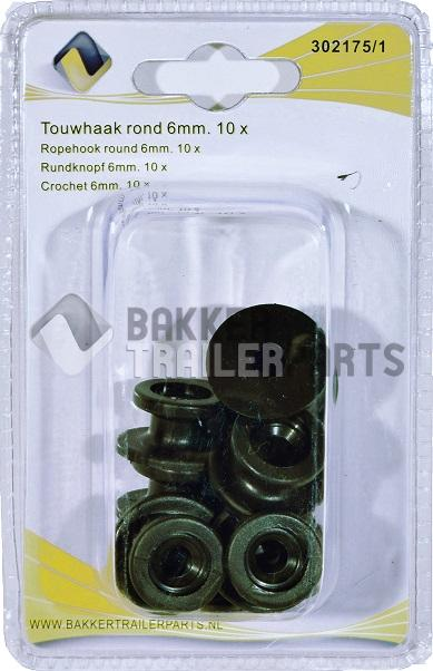 Touwhaak rond pvc 24x13mm.