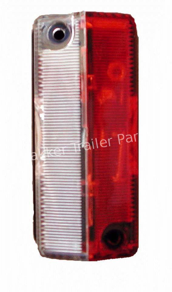 Outline marker lamp red/white 90x42mm.12V.Radex925