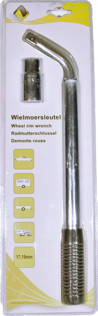 Wheel rim wrench 19/21mm.